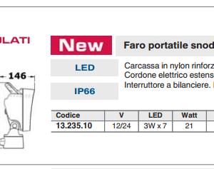 FARO PORTATILE SNODATO SFILABILE A LED